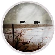 'til The Cows Come Home Round Beach Towel