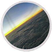 Round Beach Towel featuring the photograph Tilt Horizon by Robert Knight