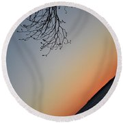 Tilted Exposure Round Beach Towel by Skip Willits