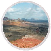 Timanfaya Panorama Round Beach Towel by Delphimages Photo Creations