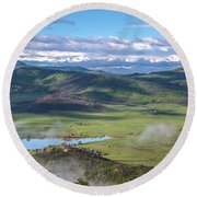 Timbers View  Round Beach Towel