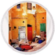 Time Bubble Round Beach Towel