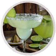 Round Beach Towel featuring the photograph Time For Margaritas by Teri Virbickis