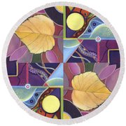 Time Goes By - The Joy Of Design Series Arrangement Round Beach Towel
