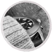 Round Beach Towel featuring the photograph Time Machine by Robert Knight