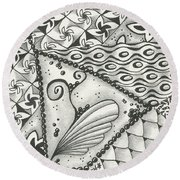 Time Marches On Round Beach Towel