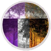 Time Of The Season Round Beach Towel