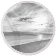 Round Beach Towel featuring the photograph Time Stood Still by Linda Lees