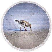 Time To Dine Round Beach Towel