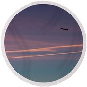 Round Beach Towel featuring the photograph Time To Go by Lora Lee Chapman