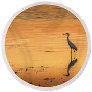 Time To Reflect Round Beach Towel