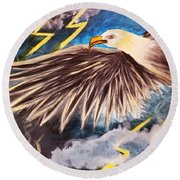 Time To Take Flight  Round Beach Towel