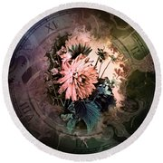 Timeless Dahlia Round Beach Towel