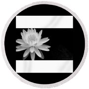 Black And White -timeless Lily Round Beach Towel