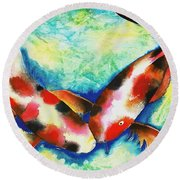 Timeless Love Round Beach Towel