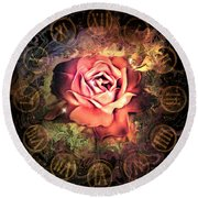 Timeless Rose Round Beach Towel