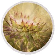 Timeless Thistle Round Beach Towel