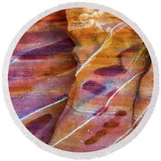Round Beach Towel featuring the photograph Timelines by Darren White