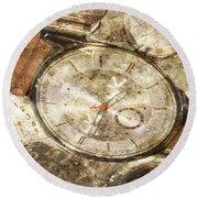 Timepieces Round Beach Towel