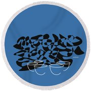 Timpani In Blue Round Beach Towel by David Bridburg
