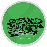 Timpani In Green Round Beach Towel by David Bridburg