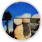 Tim's Lumber Round Beach Towel