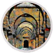 Tin Mal Mosque Round Beach Towel