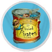 Tinned Pirates Round Beach Towel