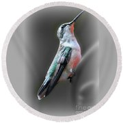 Round Beach Towel featuring the photograph Tiny Dancer by Barbara S Nickerson