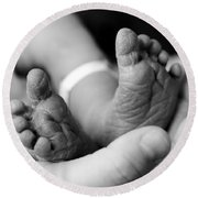 Tiny Feet Round Beach Towel