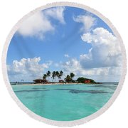 Tiny Island Round Beach Towel