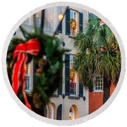 Tis The Season - Charleston Sc Round Beach Towel