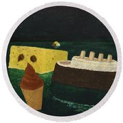 Titanic's Birthday Round Beach Towel