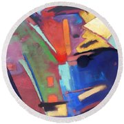 Title? Round Beach Towel by Gary Coleman