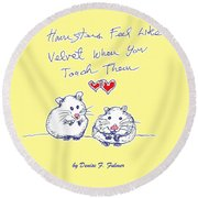 Title Page For Hamster Book Round Beach Towel
