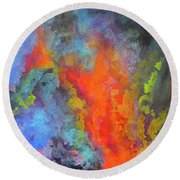 Title. Symphonata. An Acrylic Painting Round Beach Towel