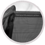 Round Beach Towel featuring the photograph Tampa Museum Of Art Work A by David Lee Thompson