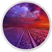 Round Beach Towel featuring the photograph To All Ends Of The World by Phil Koch