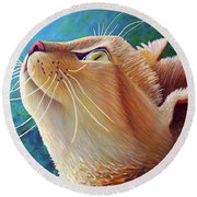 To Be With You Round Beach Towel
