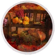 To Everything There Is A Season 2015 Round Beach Towel