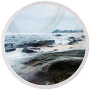 Round Beach Towel featuring the photograph To Guard The Shore by Parker Cunningham
