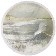 To Keep In View Round Beach Towel