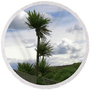 Round Beach Towel featuring the photograph To Kouka Cabbage Tree by Nareeta Martin