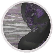 To Pin For Love Round Beach Towel