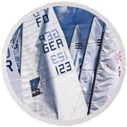 To Sea - To Sea  Round Beach Towel