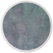 Round Beach Towel featuring the painting To See The World With Love, The World Is Full Of Love by Min Zou
