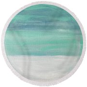 To The Moon Round Beach Towel by Kim Nelson