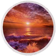 To Thine Own Self Be True Round Beach Towel