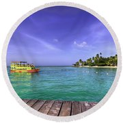 Tobago Colours Round Beach Towel