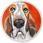Toby Round Beach Towel